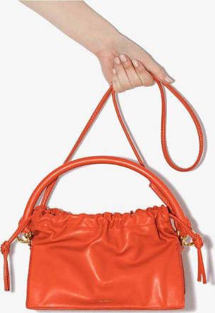 Yuzefi Womens Red Scarlett Bom Leather Tote Bag