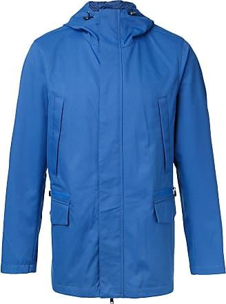 Kent & Curwen plain hooded sport jacket - Blue