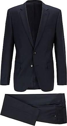 BOSS Fein gemusterter Slim-Fit Anzug aus Schurwoll-Serge