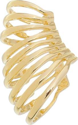 Renata Rancan Piercing Fake Argolas Semijoia Banho em Ouro 18K - Dourado