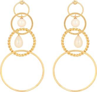 Y / Project Faux-pearl embellished earrings