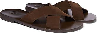 ÁLVARO GONZÁLEZ Antonio Suede Sandals - Dark brown