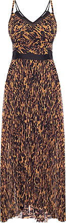 Allsaints Cora Patterned Dress Womens Brown