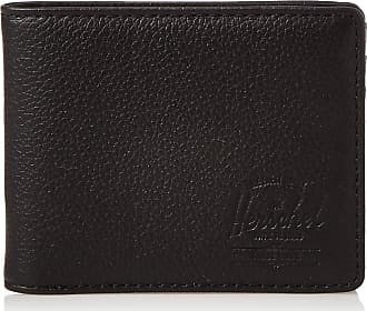 Herschel Herschel Unisexs Hank RFID Bi-Fold Wallet, Black Pebbled Leather, One Size