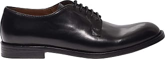 Doucal's Black Leather Derby lace-ups, 40.5