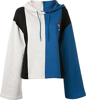 être cécile colour-blocked logo hoodie - Blue