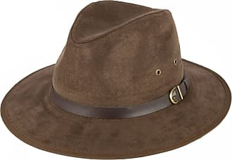 Hat To Socks Faux Suede Brown Fedora Hat