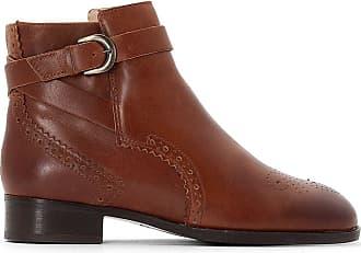f48c4d63476 Clarks Boots cuir Netley Olivia - CLARKS - Marron Foncé