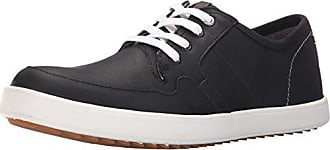 Hush Puppies Mens Hanston Roadside Leather Sneaker, Black Leather, 8 M US