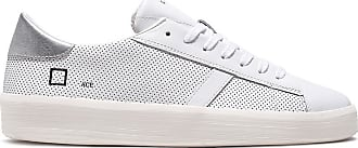 D.A.T.E. ace calf white perforated