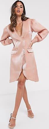 Unique21 Unique21 tailored shimmer blazer dress-Pink