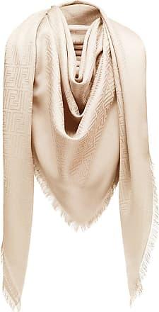 Fendi Echarpe de seda com estampa - Neutro