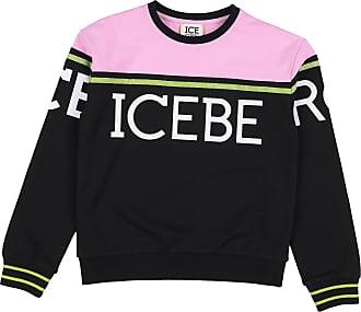 Black Round Neck Knitted  Iceberg  Stickade tröjor
