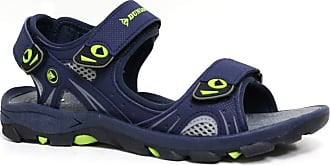 Dunlop Mens Dunlop Sports Beach Trekking Walking Hiking Touch Close Strap Sandals Sizes 7 - 12 (Navy Lime, 10)
