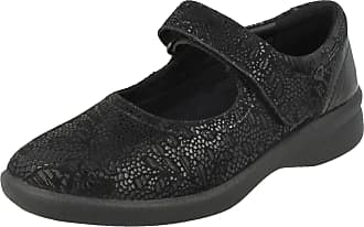 Padders Sprite 2 - Black Floral Print (Leather) Womens Shoes 5 UK