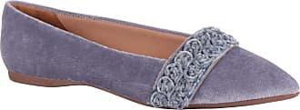 Constance Sapatilha Bico Fino em Veludo Azul Comfort Plus