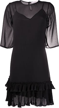 See By Chloé sheer ruffle-trim dress - Preto