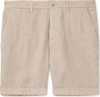 120% CASHMERE Wide-leg Linen Shorts - Beige