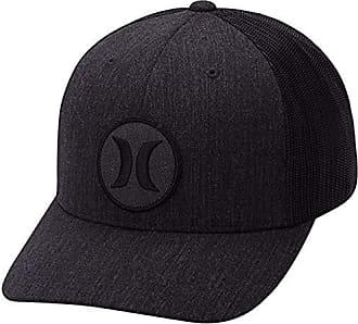 promo code e5ef2 4a34b Hurley Mens Black Textures Patch Trucker Baseball Cap, Melange, One Size