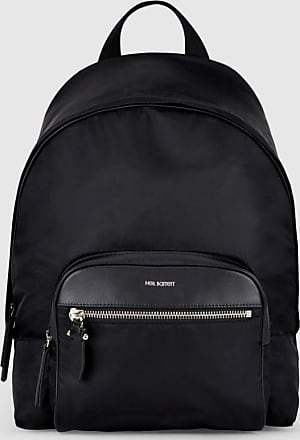 Neil Barrett Embossed Thunderbolt Leather Backpack