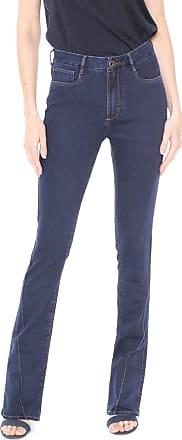 Enna Calça Jeans Enna Bootcut Recortes Azul