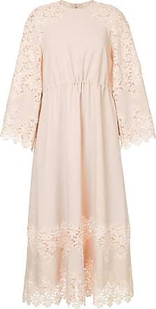 Huishan Zhang floral lace midi dress - Rosa