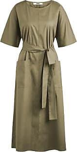 Zenggi Khaki Cotton Relaxed Dress - xs