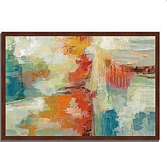 Tangletown Fine Art Coral Reef by Silvia Vassileva Framed Art White/Blue/Red/Orange