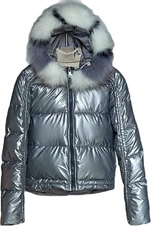 VITryst Women Hooded Packable Light Weight Short Down Jacket Parka Coat,Grey,X-Large