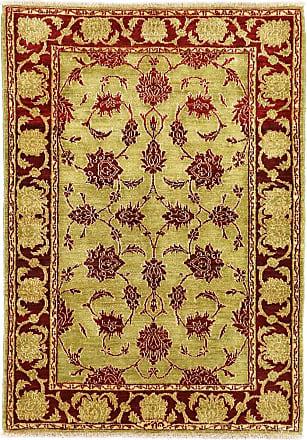 Nain Trading 139x99 Tappeto Orientale Isfahan Moderni Marrone/Giallo (Persia/Iran, Lana, Annodato a mano)