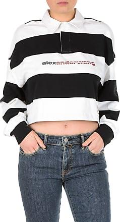 41d5ec53b8173 Alexander Wang White and black Rugby polo T-shirt