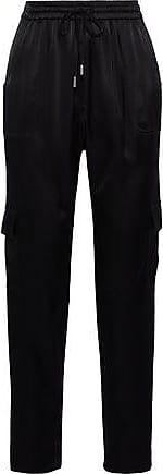 Elie Tahari Elie Tahari Woman Ella Sateen Tapered Pants Black Size XS