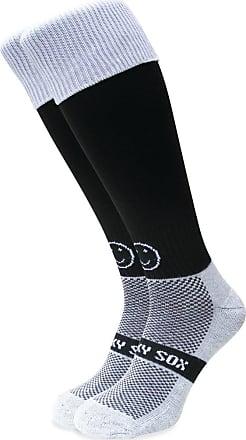 Wackysox Black Socks with White Turnover