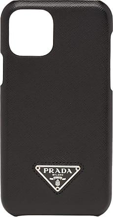 Prada Capa para iPhone 11 de couro Saffiano - Preto
