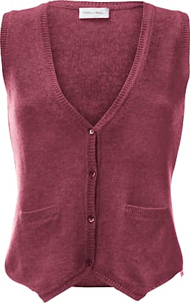 Peter Hahn Knitted waistcoat in 100% new milled wool Peter Hahn pale pink