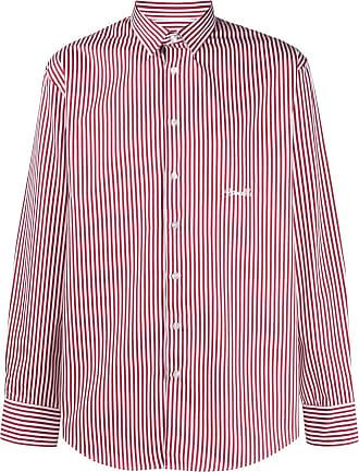 Frankie Morello Camisa de algodão listrada - Vermelho