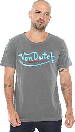 Von Dutch Camiseta Von Dutch Pinstriping Grafite