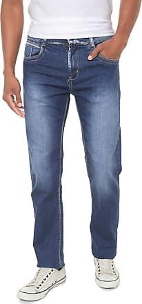Sawary Calça Jeans Sawary Reta Estonada Azul