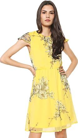 Vero Moda Vestido Vero Moda Curto Estampado Amarelo