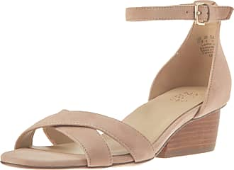 Naturalizer womens Caine Wedge Sandal Beige Size: 10 Narrow