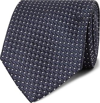 366fce0647 Tom Ford 8cm Pin-dot Silk-jacquard Tie - Navy