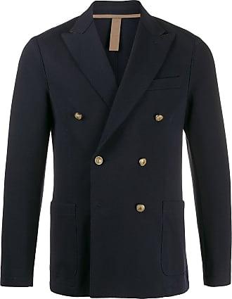 Eleventy double-breasted woven blazer - Blue