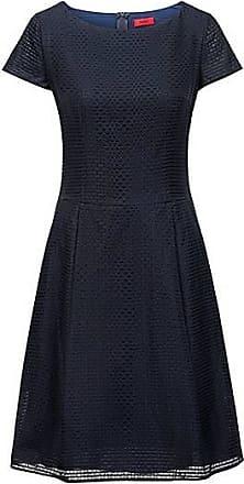 37c6c93aae1213 HUGO BOSS Tailliertes A-Linien-Kleid mit mehreren Lagen