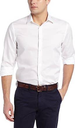 Perry Ellis Mens Big-Tall Long Sleeve Twill Noniron Medium Spread Collar Shirt