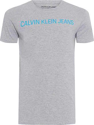 Calvin Klein CAMISETA MASCULINA INSTITUCIONAL - CINZA