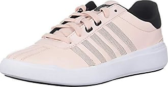 K-Swiss Womens Heritage Light L Sneaker, Creole Pink/Black/White, 9 M US