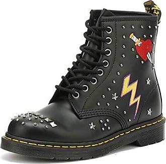 f3e370c17d4a90 Dr. Martens Dr.Martens Unisex 1460 Rockabilly Smooth Leather Black Stiefel  46 EU