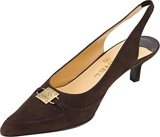 8014e6ad2eb Chanel Late 1990s Chanel Brown Suede Pointed Toe Sling Back Kitten Heels