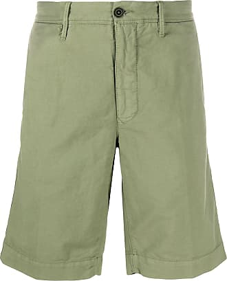 Incotex patch detail cotton blend bermuda shorts - Green