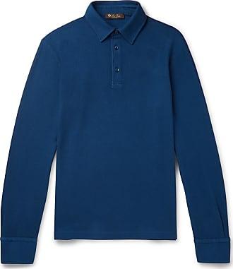 Loro Piana Cotton-piqué Polo Shirt - Navy